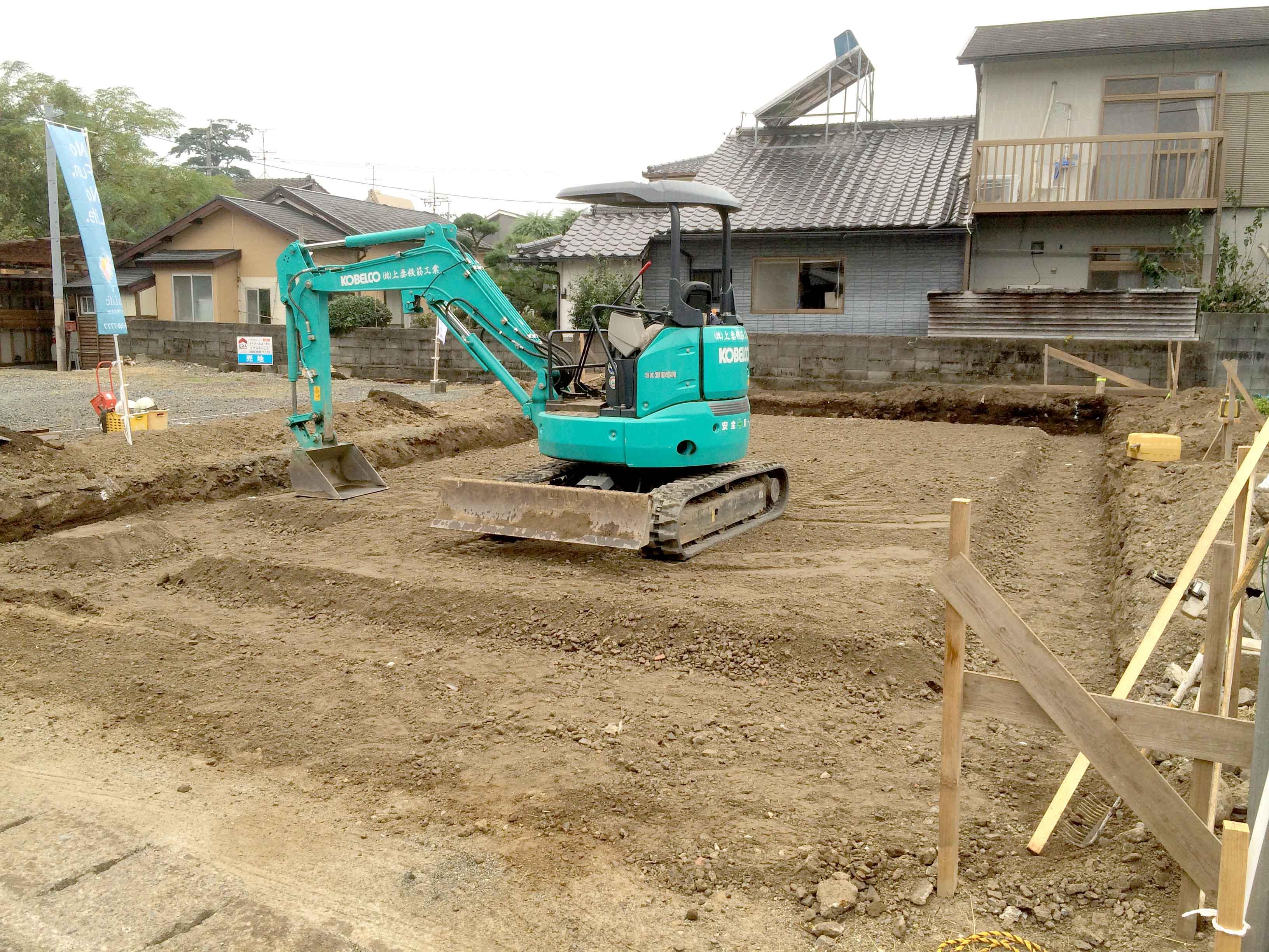 川尻T様邸基礎工事 床掘り